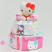 tarta pañales Hello Kitty