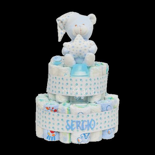 tarta de pañales niño