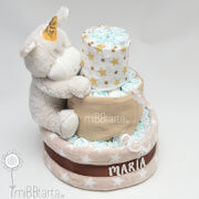 tarta de pañales unisex unicornio