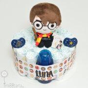 regalo nacimiento tarta pañales Harry Potter