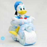 tarta de pañales Disney moto Donald